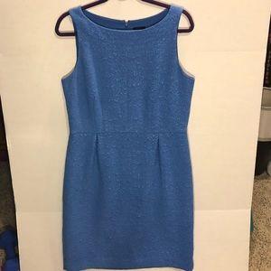 Ann Taylor Blue Textured Cocktail Dress